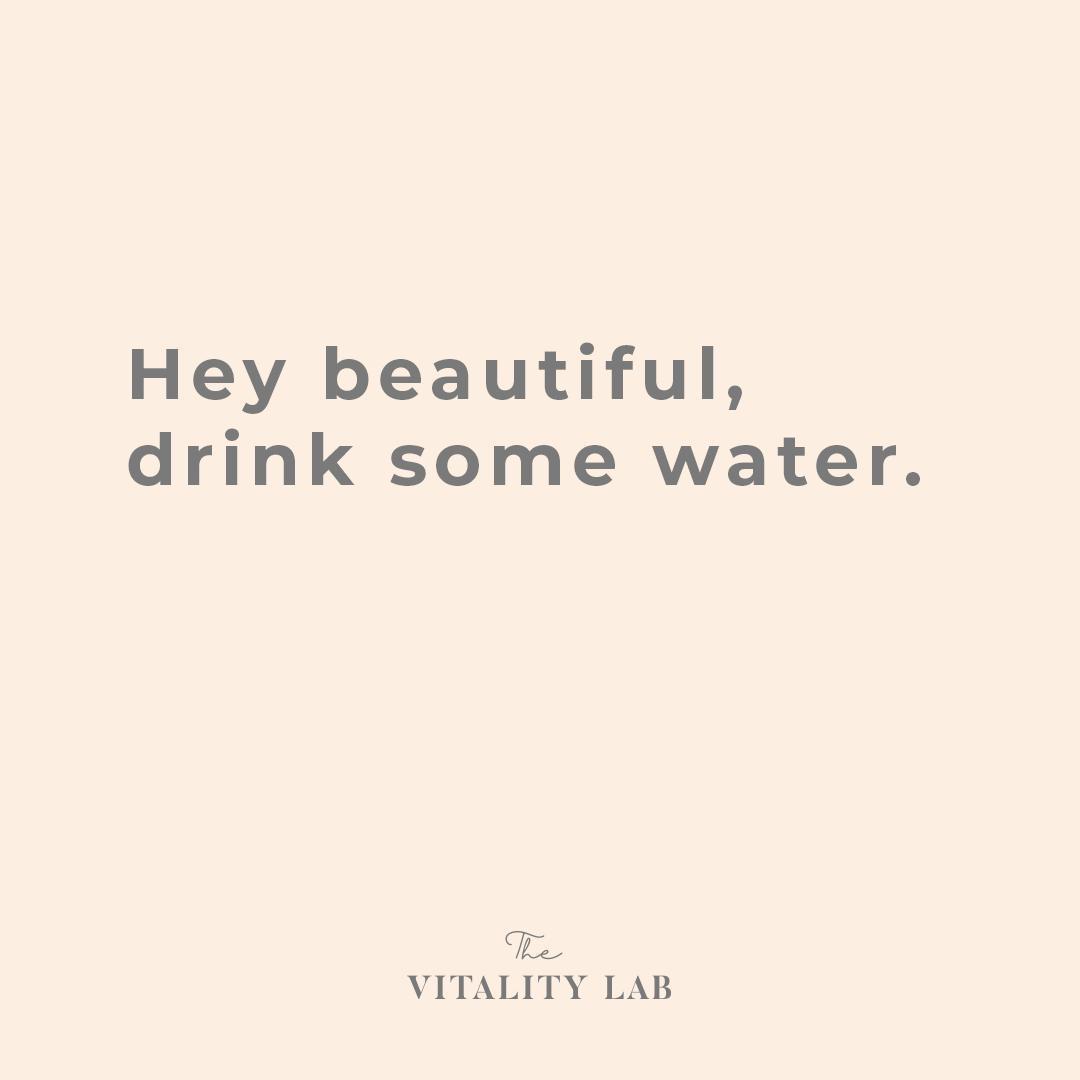 The Vitality Lab - gewichtsconsulent Den Haag - water drinken