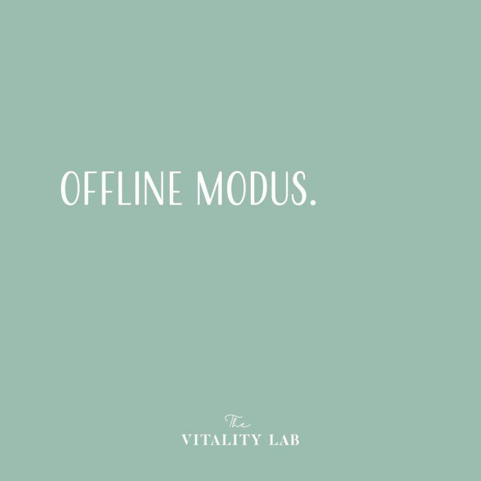 The Vitality Lab - gewichtsconsulent Den Haag - offline modus